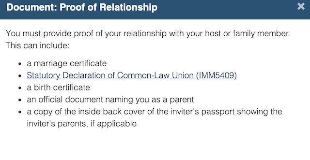 加拿大签证关系证明
