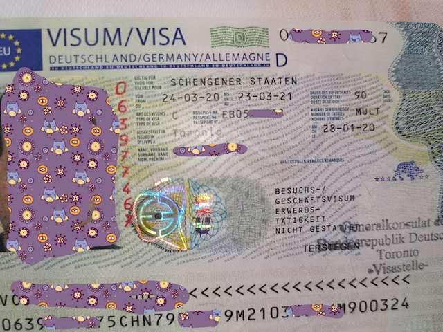 德国申根签证