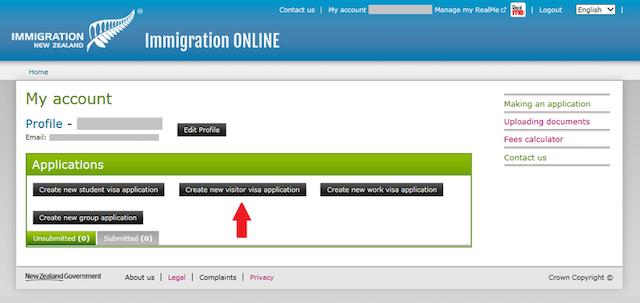 新西兰签证申请