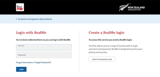 新西兰签证账户