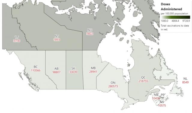 加拿大4月开打疫苗